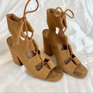 Urban Outfitters Lace-Up Chunky Heel Gladiators